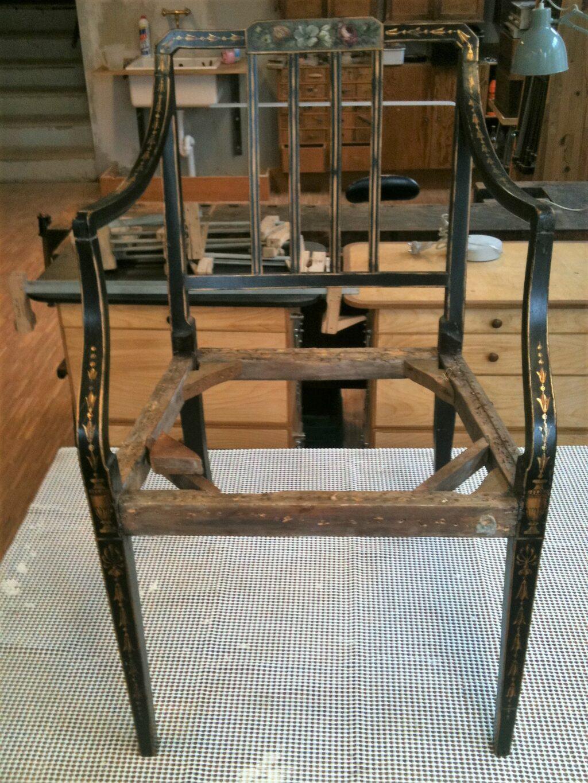 Lænestol skilt ad og samlet igen