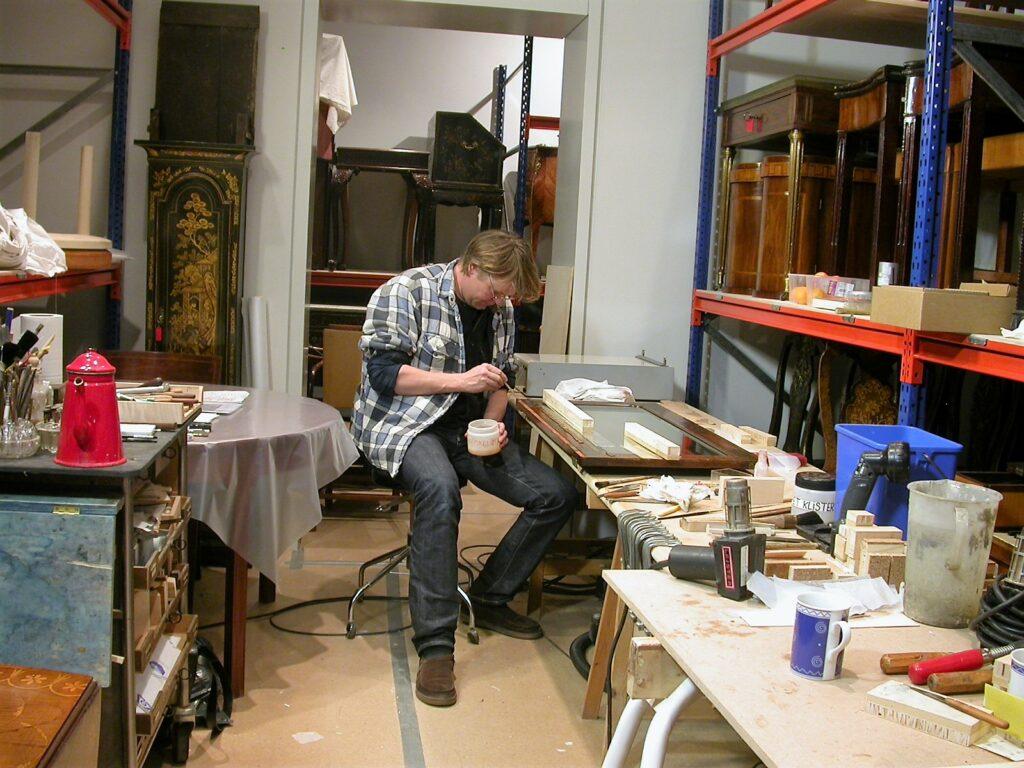 Det var muligt at lave et mobilt værksted i kælderen på Davids Samling
